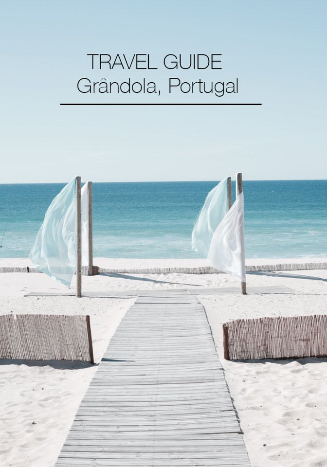 Grândola, an hour outside Lisbon, is where natives unwind. It is a beautiful, privileged area that left a lasting, inspiring impression with us