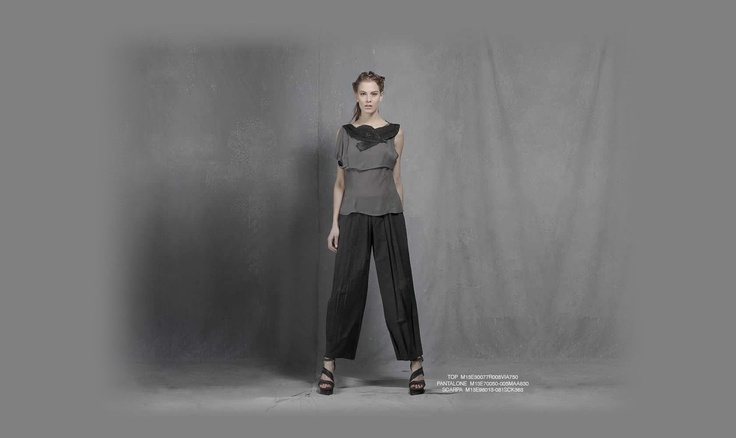 Malloni black collection S13 #top #slacks #shoes