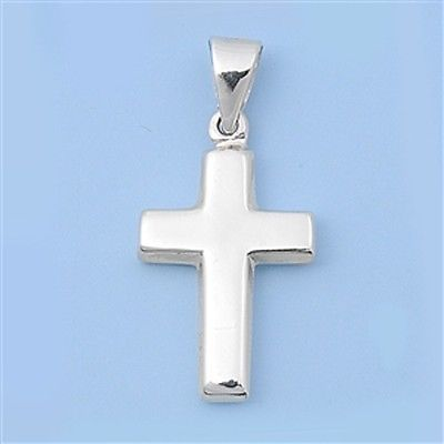 Plain .925 Sterling Silver Cross Pendant - 3/4