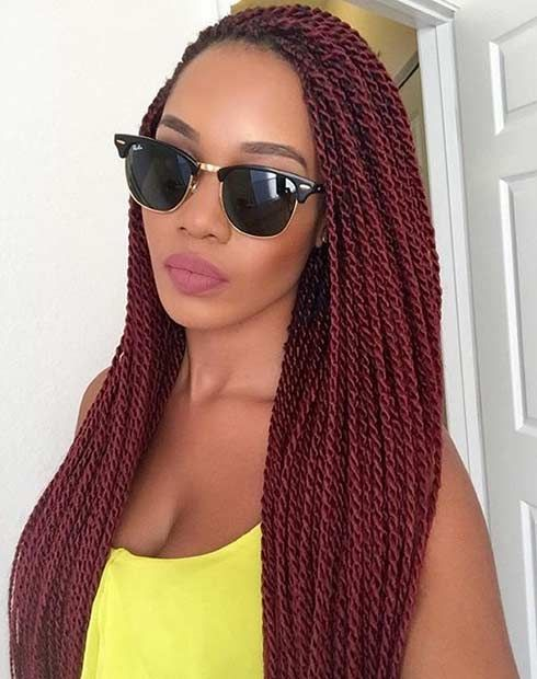 21 Best Protective Hairstyles for Black Women. SENEGALESE TWISTS
