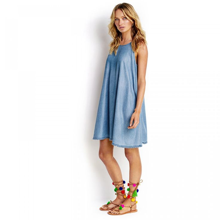 Seafolly fringed hem chambray dress