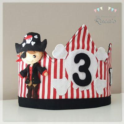 Corona de cumpleaños de Pirata