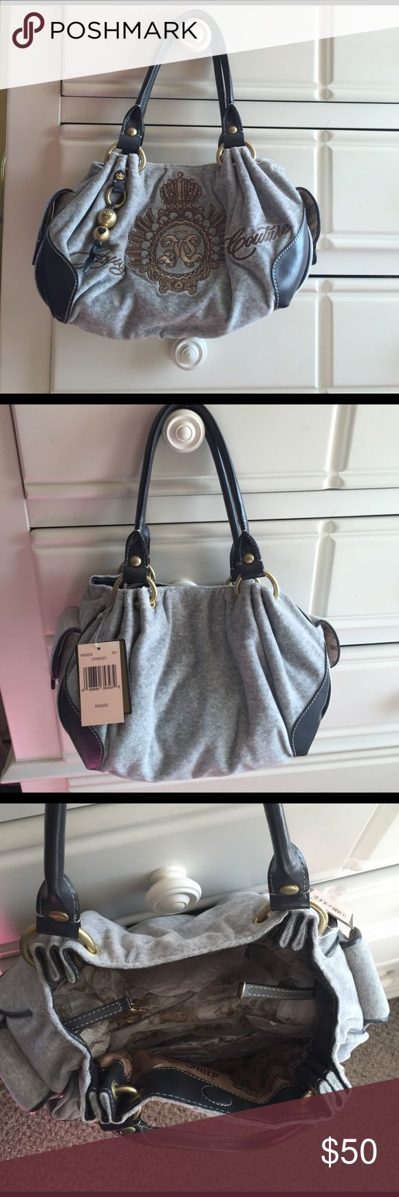 Juicy couture handbag Never used!! Light gray juicy couture purse Juicy Couture Bags Shoulder Bags
