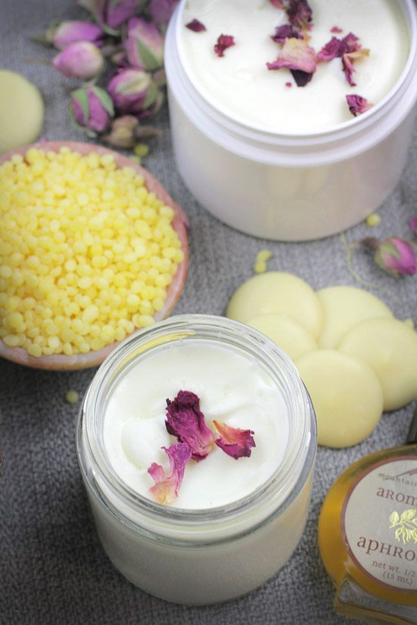 DIY Rose Face and Body Lotion recipe from Mountain Rose Herbs.