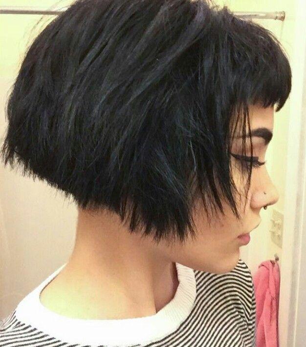 le carré frange ◼ haircut bob fringe haar frisur coupe coiffure cheveux court brun