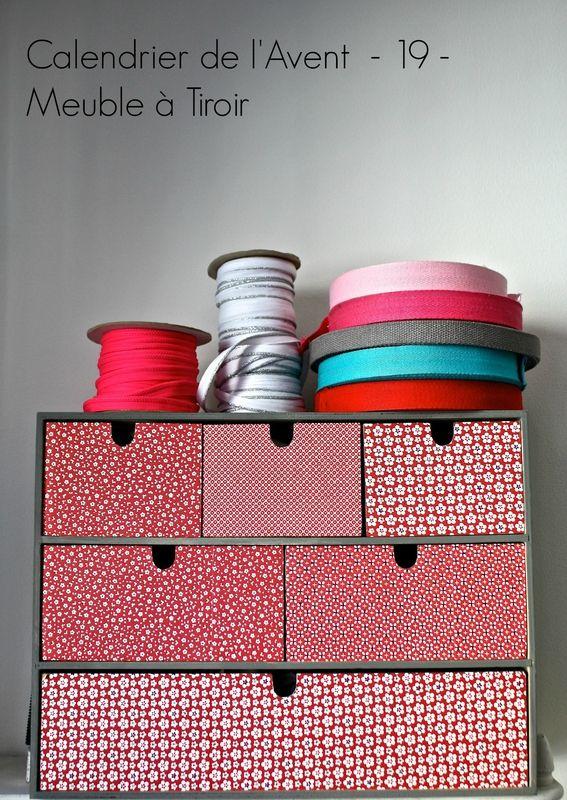 Calendrier de l'avent créatif: une idée créative par jour jusqu'à Noel! Creative advent calendar: one créative idea until Christmas Meuble à tiroir cabinet drawer
