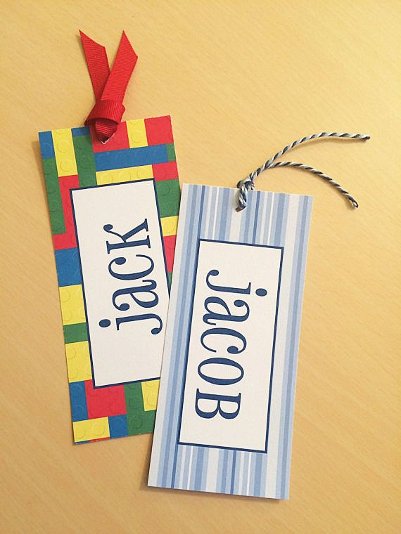 Bookmarks for Kids Customized Bookmarks by SincerelyYours123