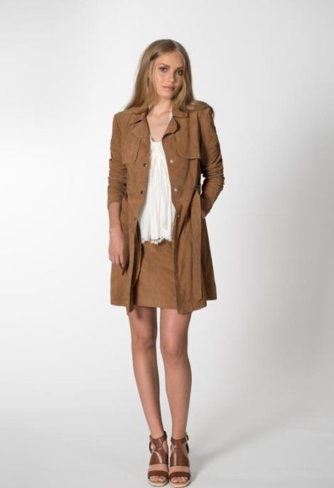 Milena suede jacket | Andiata mokka takki hame