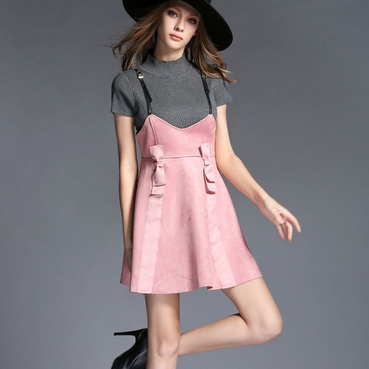 Find More Information about Brand new 2015 fashion women knitted tops shirt suede braces skirt twinset dress two pieces autumn dresses,High Quality dresses office,China dress shirts with logo Suppliers, Cheap dress australia from Europe USA Fashion Show on Aliexpress.com