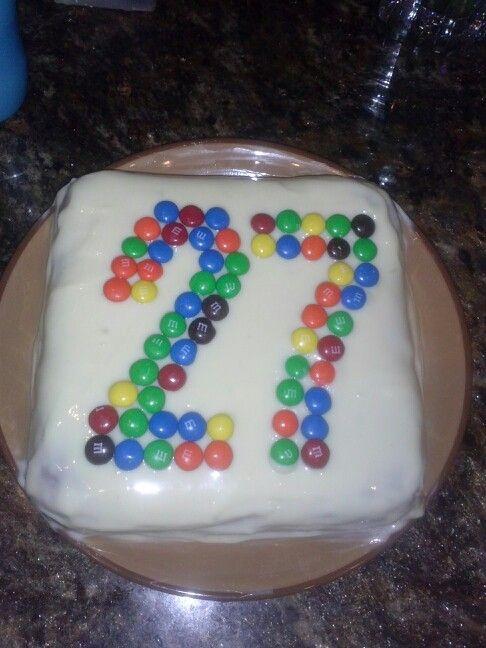 M Amp Ms 27th Birthday Cake Cooking Ideas Pinterest