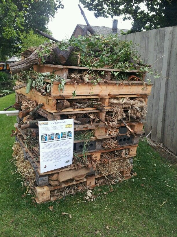 Bug hotel. Contact parents for palettes?