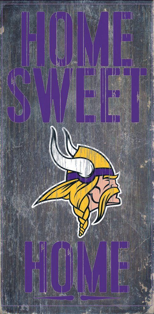 Minnesota Vikings Sign Wood 6x12 Home Sweet Home Design