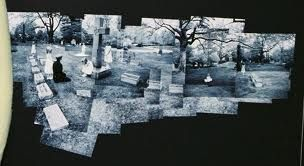 Photomontage of a graveyard
