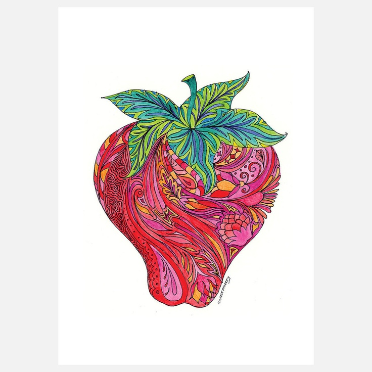 Fab.com | Strawberry 8x10 - Green Girl Canvas