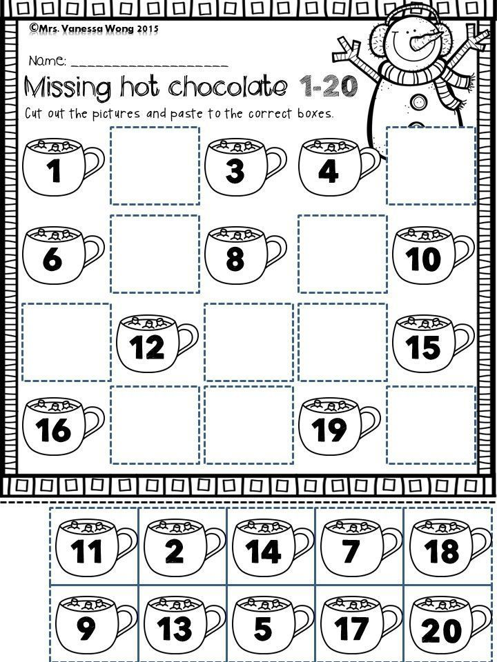 Winter Math And Literacy Centre Kindergarten Missing Numbers Up To 20 Download Free Printables At Pre Literacy Centers Kindergarten Winter Math Math Literacy