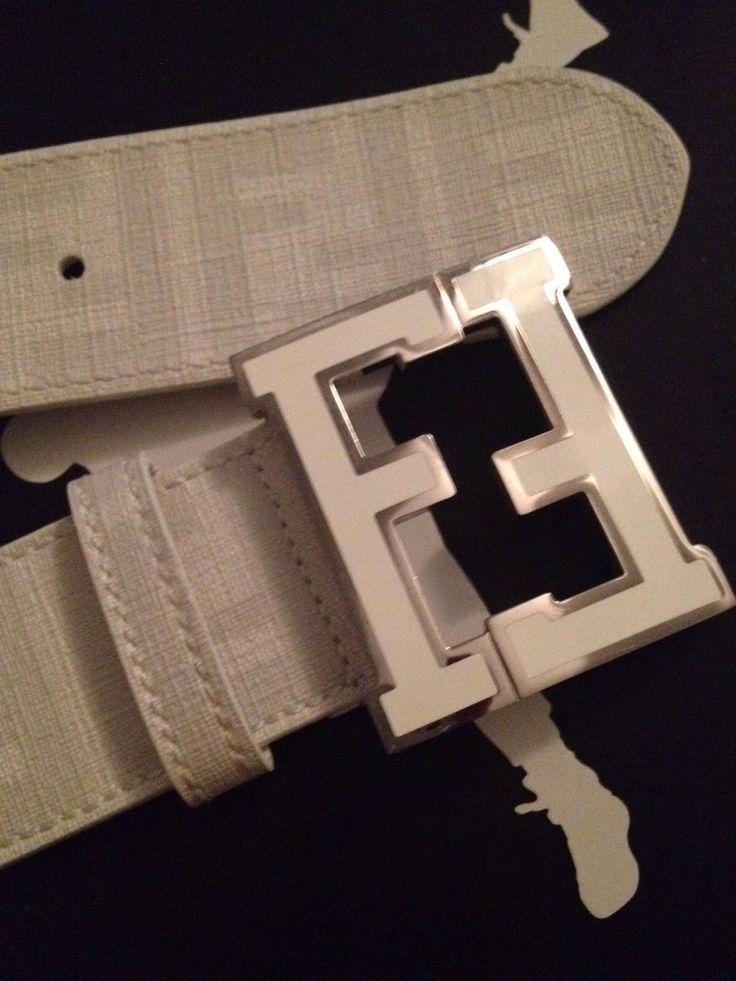 fendi designer belts xg8x  Fendi Belt Men's Preowned White Leather Designer