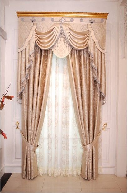 home curtain design luxury yarn quality finished product window curtain blind window curtain fabric