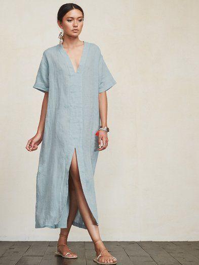 light blue tunic dress
