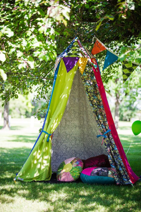 play tent hula hoop tent circus tent boho by colouraddiction