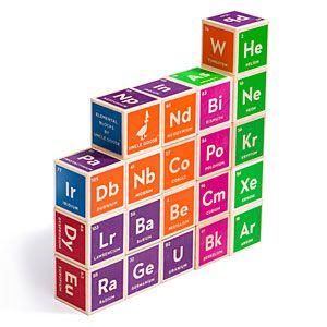 ThinkGeek :: Periodic Table Building Blocks