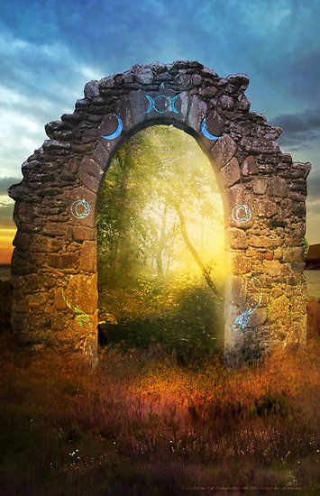 The Portal, moon phases, field, magical, fantasy, spiritual, another world, realm