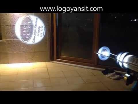 Logo Yansit iç Ortam Dönen Logo Yansıtma Videosu - YouTube