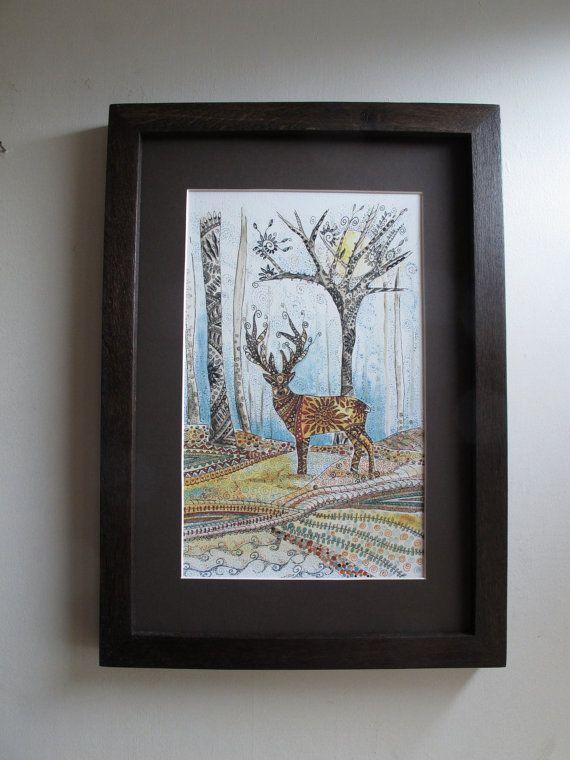 Deer printstag printstag picturedeer by heARTofNatureStudio