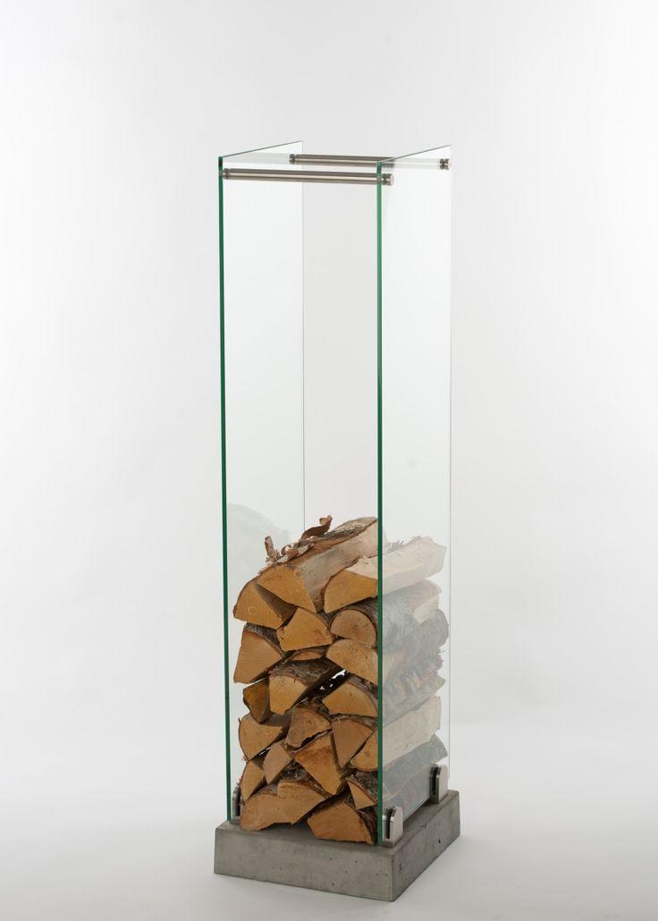 SWELEK - Vedställ, Brænde rack, Brændekurv, Vedkurv (Hög) 120cm