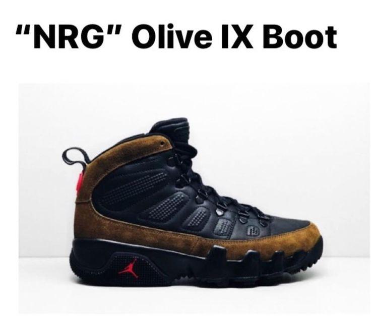 "First Look: Air Jordan 9 Boot NRG ""Olive"""