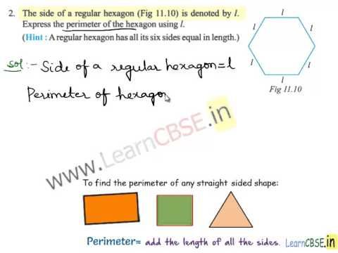Permeterof Triangle | Perimeter of Regular hexagon | Total length of the...