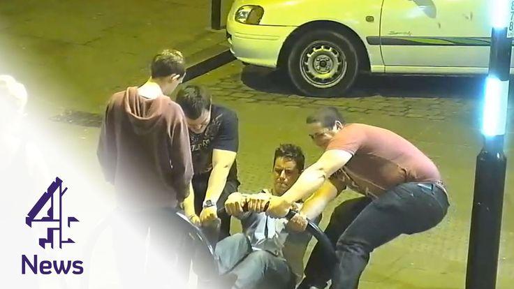 Boston boys fix broken bike rack on night out  | Channel 4 News