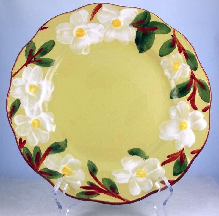 Vintage Stangl Pottery White Dogwood 10 Inch Dinner Plate Trenton NJ