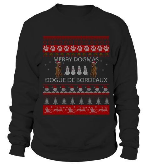 # Dogue De Bordeaux 2 Christmas Sweater Sh .  Dogue De Bordeaux 2 Christmas Sweater Shirt