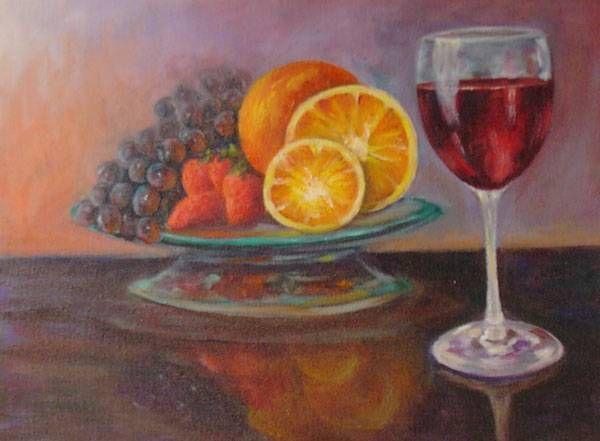 Bodegón con vino