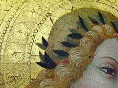 Sano di Pietro (1405–1481), Ange de l'Annonciation,  detail, 1430 / 1440, Musée du Petit Palais d'Avignon