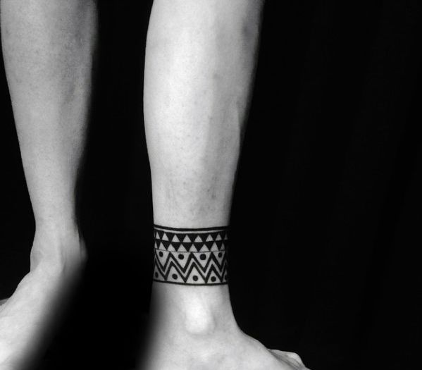 Top 57 Ankle Band Tattoo Ideas 2020 Inspiration Guide In 2020 Ankle Band Tattoo Tattoos For Guys Band Tattoo