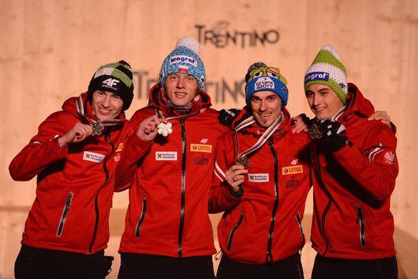 Kamil Stoch Dawid Kubacki Piotr Żyła Maciej Kot - Men's Ski Jumping Team HS134 - FIS Nordic World Ski Championships