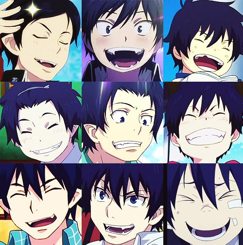 Anime/manga: Blue Exorcist Character: Rin, I present to you the many faces of Okumura Rin!