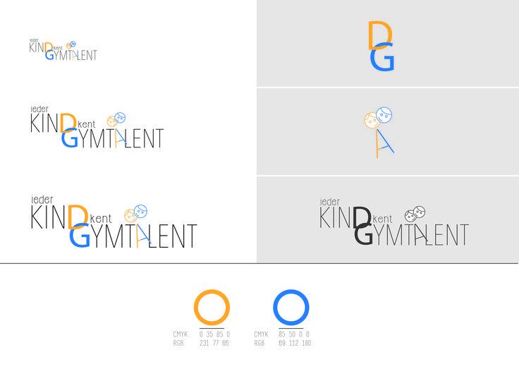 Designed by LEV - Linda de Vries. www.levties.nl | www.instagram.com/levties. Grafisch ontwerp voor logo 'ieder kind kent gymtalent'. #logo #grafischontwerp #graphicdesign #huisstijl #drukwerk #typografie