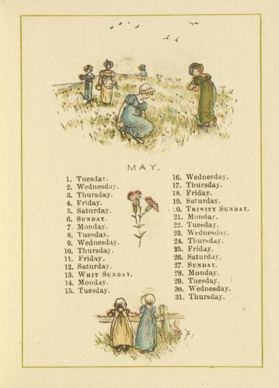 May Calendar Book : Best kate greenaway images on pinterest vintage