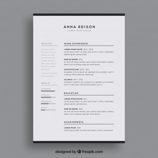 Download Black And White Curriculum Template For Free Curriculum Template Resume Professional Resume