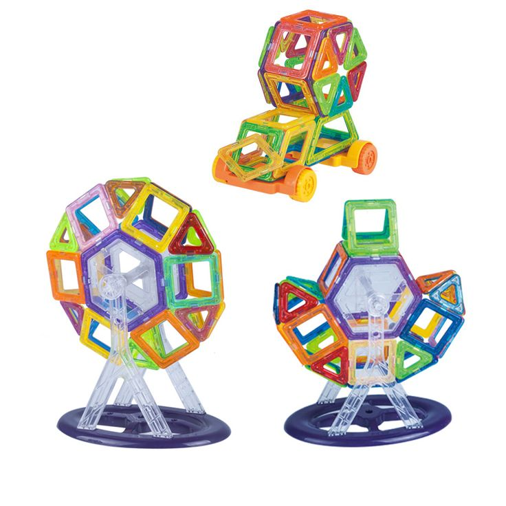 92PCS Mini Magnetic Building Blocks Designer 3D DIY Kids Toys Construction Assembled Block Toy Education With Gift Bag or Box