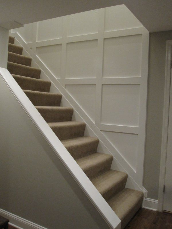 Opening Downstairs Entry By Cutting Away Wall And Adding Trim To Create  Wainscoting Stairs To Master