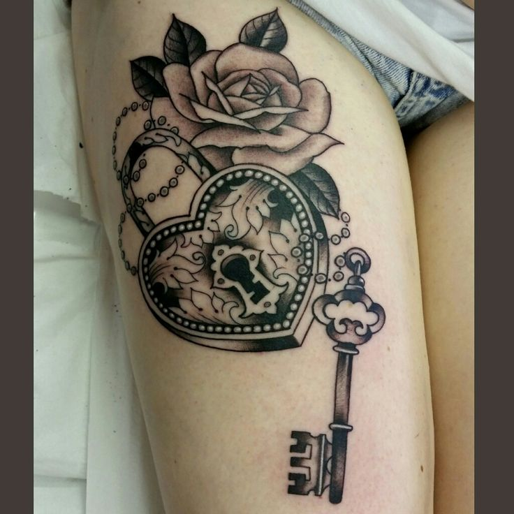 padlock heart key tattoo by bruno mom pinterest key tattoos key and tattoo. Black Bedroom Furniture Sets. Home Design Ideas