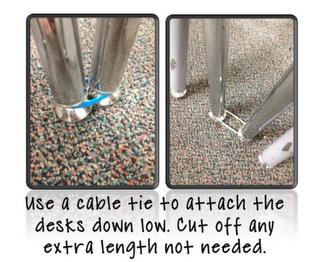 Desk ties! Keep your pretty little desks in pretty little rows.