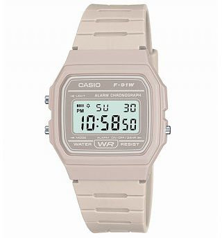 Classic Light Grey Watch F-91WC-8AEF from Casio