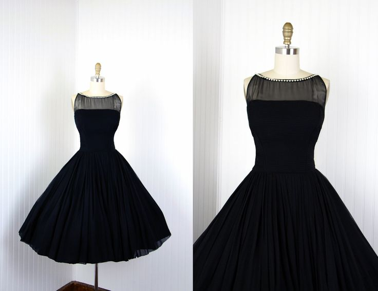 M s black dress 50s
