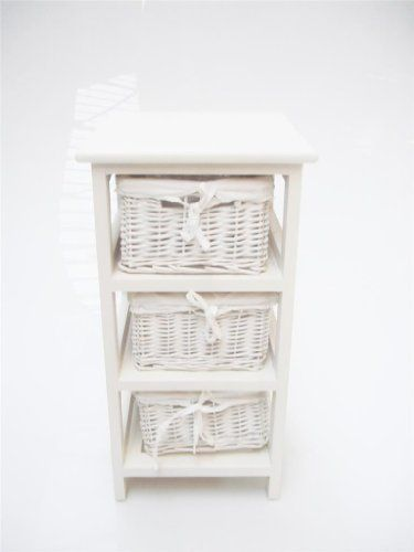 WHITE NARROW BEDSIDE CABINET 3 CHEST OF DRAWS DRAWER BATHROOM STORAGE UNIT. WHITE LINING www.topfurnishing.co.uk http://www.amazon.co.uk/dp/B002CNKUB2/ref=cm_sw_r_pi_dp_YeO0ub1T3111Z