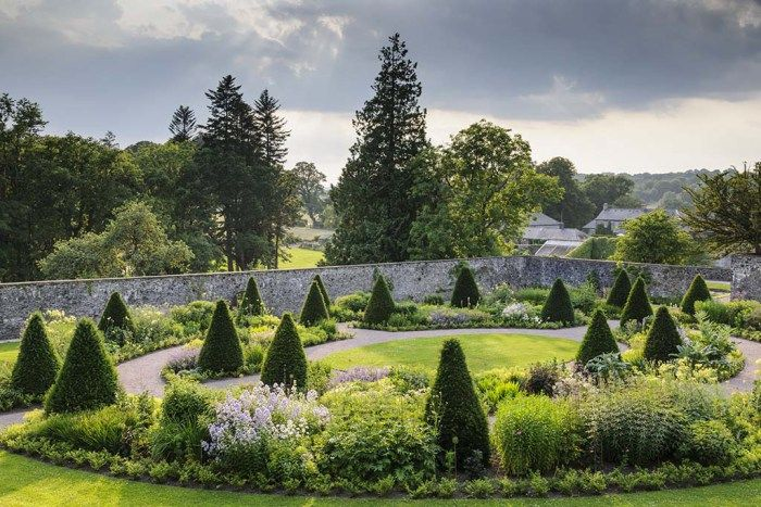 The planting in upper walled garden at Aberglasney Gardens was designed by Penelope Hobhouse. Pic credit: Jason Ingram