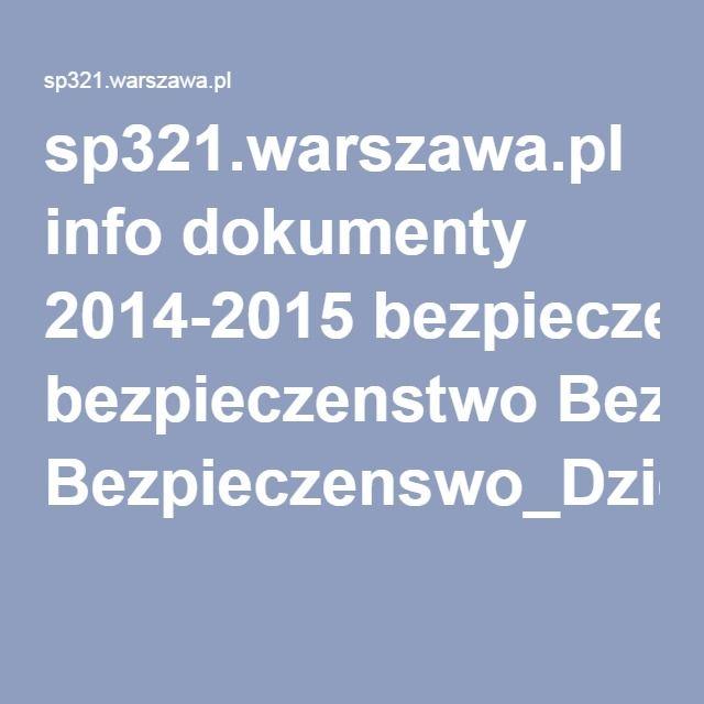 sp321.warszawa.pl info dokumenty 2014-2015 bezpieczenstwo Bezpieczenswo_Dzieci_Online_Kompendium_www.pdf